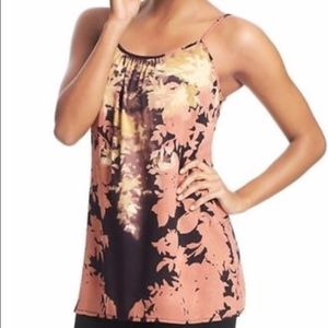 SHADOW FLORAL CAMI TUNIC ROSE BURGUNDY 553